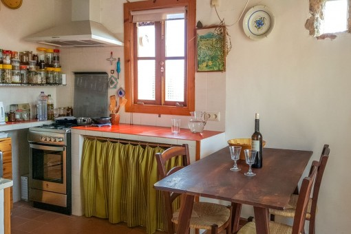 La cocina se encuentra en la planta superior