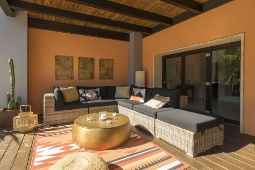 Zona de lounge en la terraza