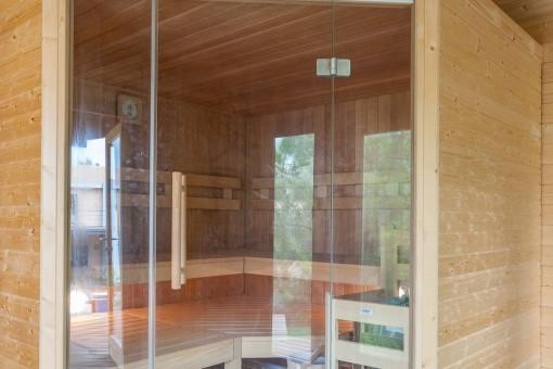 Vista exterior de la sauna
