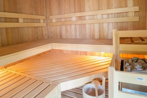 La nueva sauna invita a relajarse