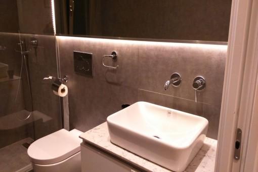 Baño refinado con ducha