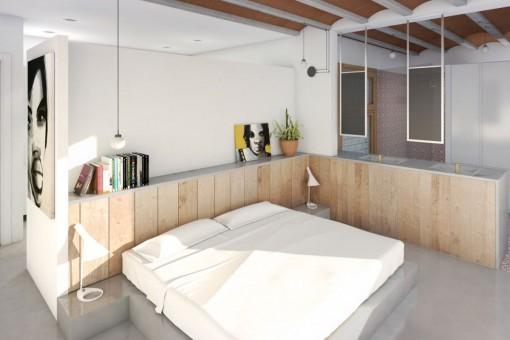 Dormitorio acogedor con baño integrado