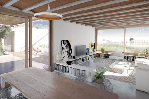 La arquitectura está sencillo pero extravagante