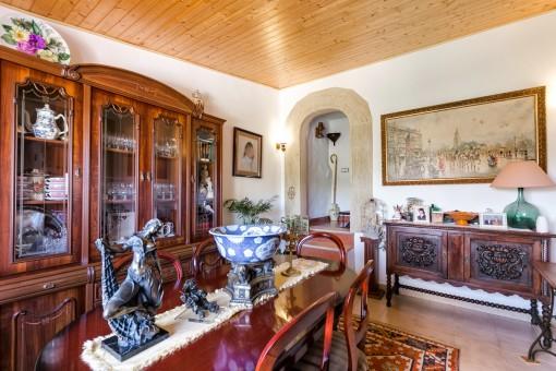 Muebles tradicional de madera