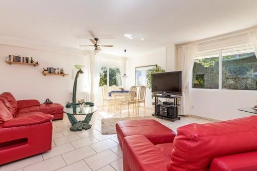Área de estar del segundo apartamento de invitados