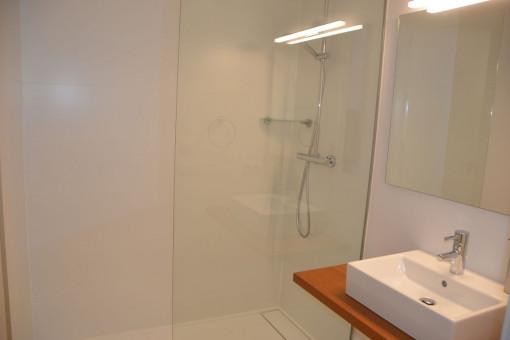Baño en suite con ducha