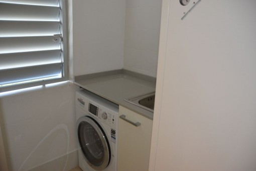Trastero con lavadora