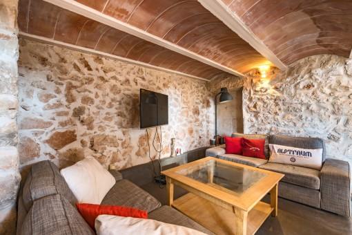 Sala de estar confortable