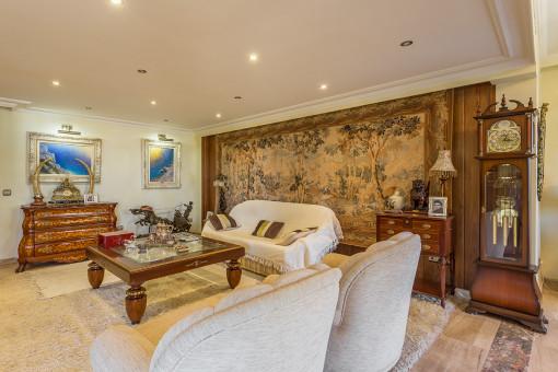 Sala de estar en estilo tradicional