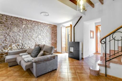 Mallorquina sala de estar con zona de lounge