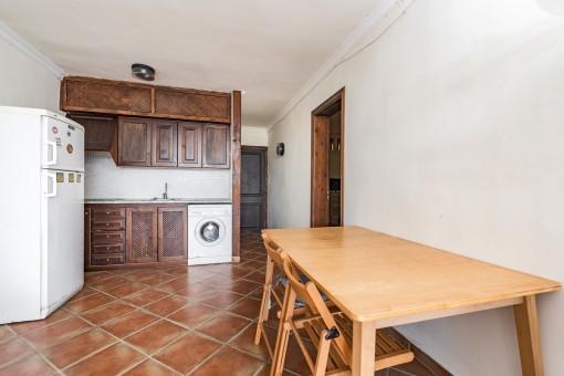 Vista a la cocina abierta