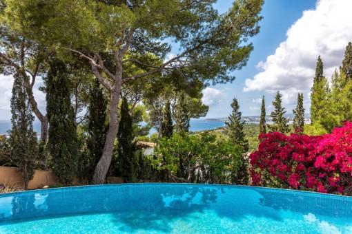 Maravillosas vistas al mar desde la piscina