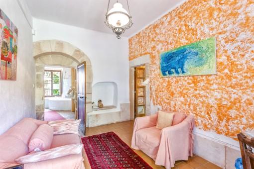 Zona de lounge en el apartamento de 60 metros cuadrados