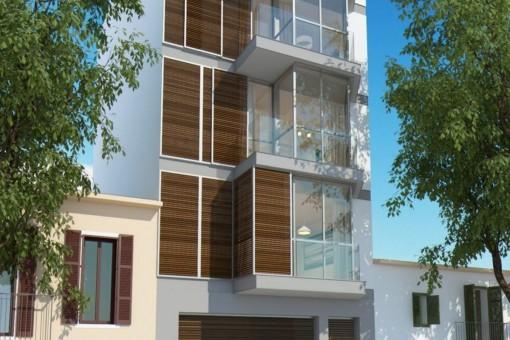 Vistas exteriores del complejo residencial