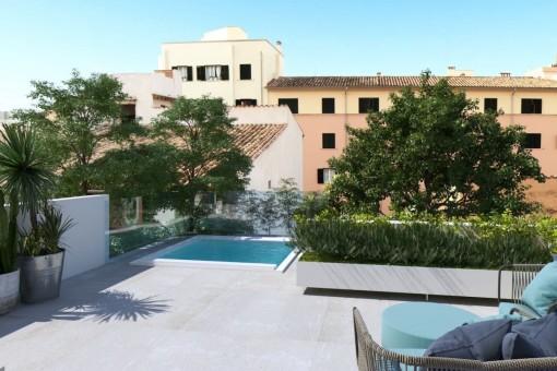 Dúplex exclusivo con piscina en Santa Catalina