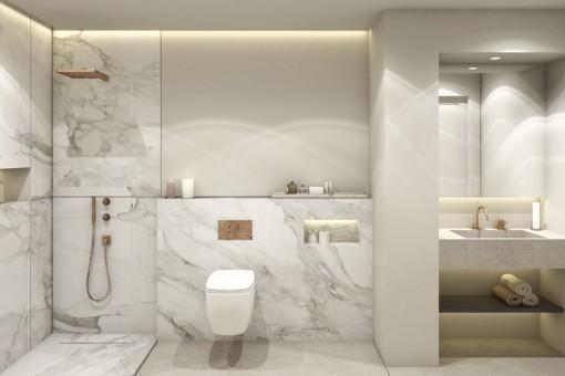 Uno de 3 baños lujosos