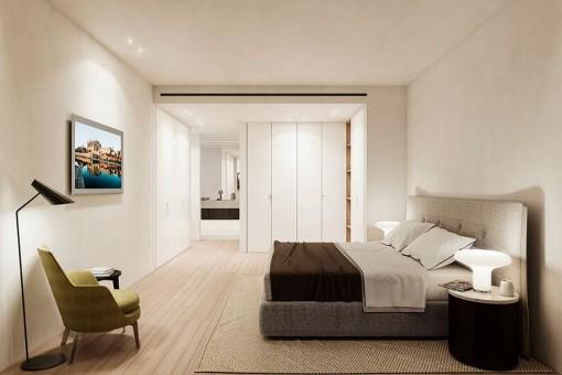 Espascioso dormitorio doble