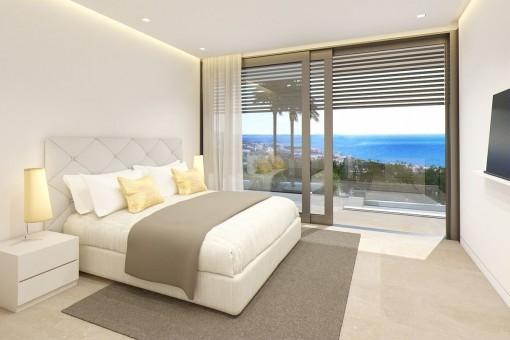 Todos los dormitorios ofrecen vistas al mar