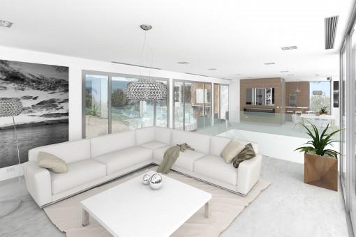 Luminosa sala de estar