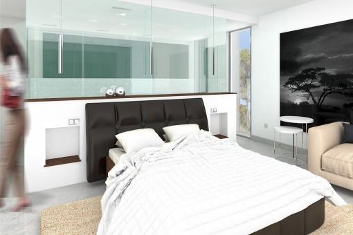 Moderno dormitorio principal