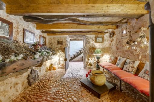Impresionante, rústica y auténtica zona de lounge