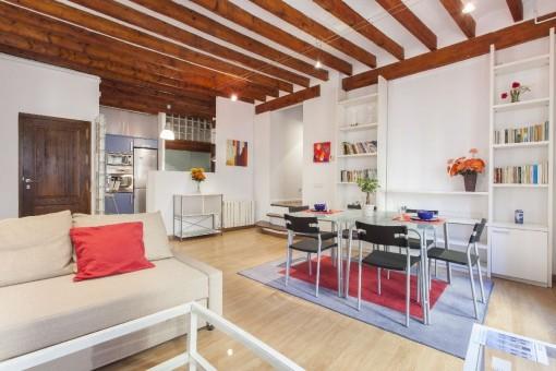 Amplio apartamento amueblado con 3 dormitorios en el casco antiguo de Palma