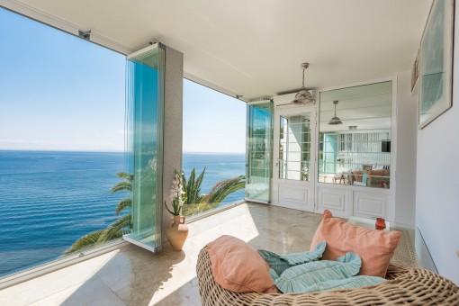 El piso es ideal para disfrutar la vida mediterránea