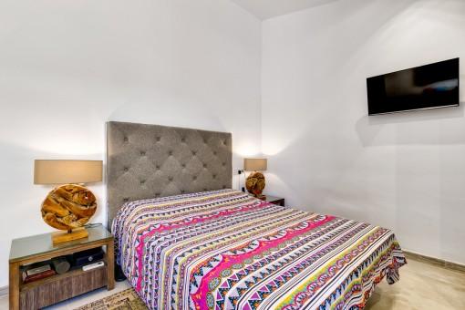 Agradable dormitorio doble