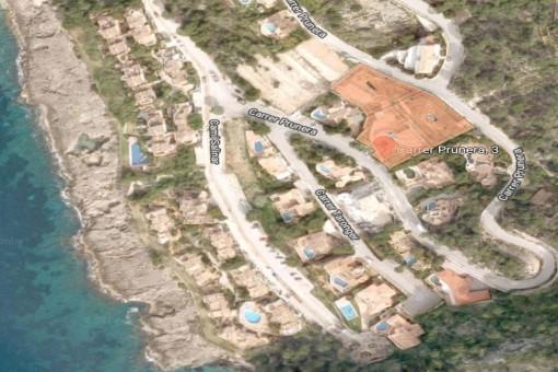 Vista aérea del terreno