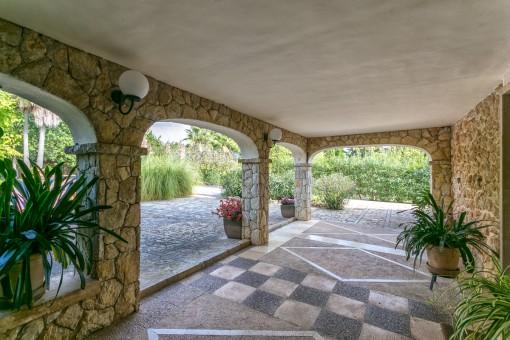 Cubierta terraza de piedra
