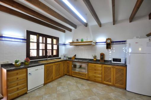 Gran cocina rústica