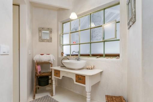 Baño de un diseño loft