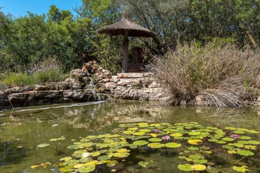 Este estanque artificial es parte del área al aire libre