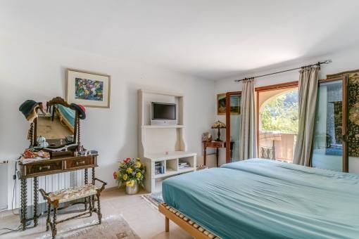 Dormitorio doble con acceso a la veranda