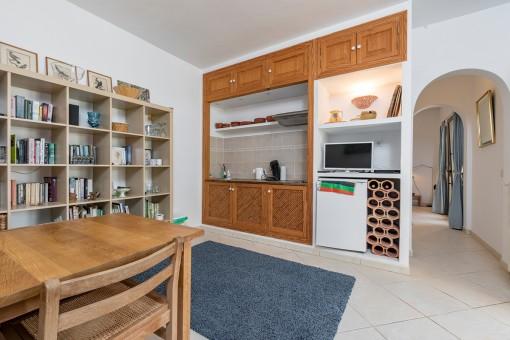 Pequeña cocina de huéspedes separada