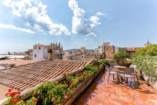 Azotea con maravillosas vistas al casco antiguo