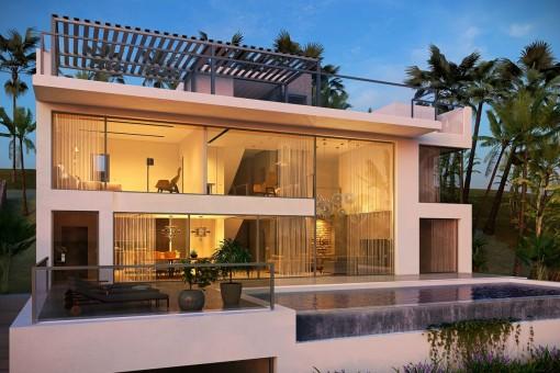 Maravillosa piscina integrada a la terraza