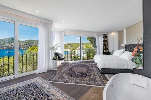 Fantásticas vistas panorámicas desde el dormitorio principal