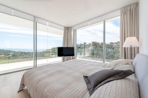 Magnífico dormitorio con vistas panorámicas