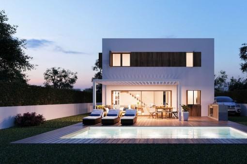 Proyecto de villa vanguardista con certificación Passivhaus en Bunyola