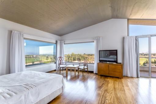 Maravillosas vistas panorámicas desde el dormitorio