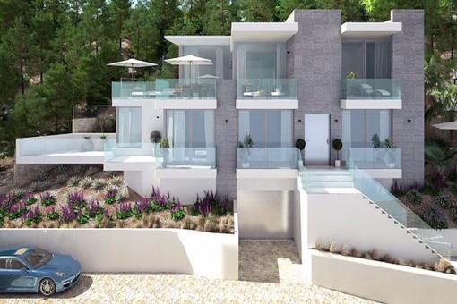 Proyecto de obra nueva con impresionantes vistas al mar en una zona codiciada de Santa Ponsa