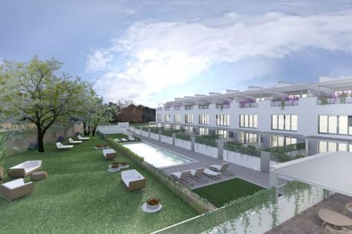 Exclusivo adosado de nueva construcción con terrazas y piscina en Puerto d'Andratx