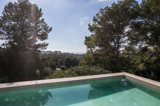 Fantásticas vistas desde el área de piscina