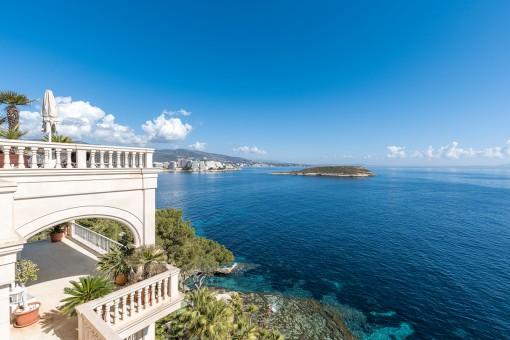 Maravillosas vistas al mar desde la villa