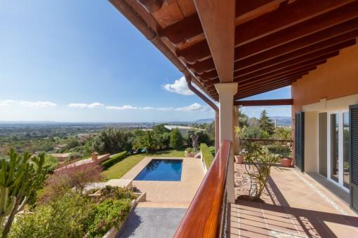 Villa en Bunyola con maravillosas vistas panorámicas a la bahía de Palma