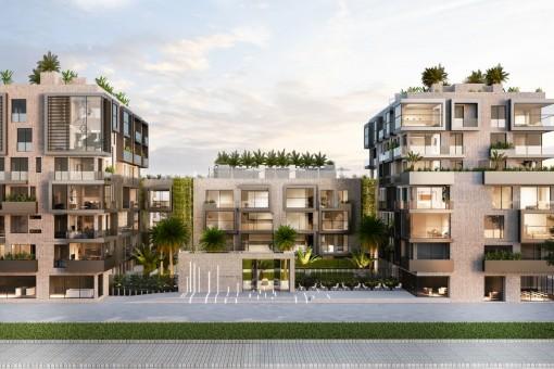 Exclusivo apartamento de 2 dormitorios de nueva construcción con 2 terrazas y oreintación suroeste en un complejo de lujo en Nou Llevant, Palma
