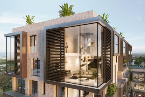 Impresionante ático de lujo de 4 dormitorios con piscina, sauna, gimnasio, cine y vistas al mar en Nou Llevant, Palma