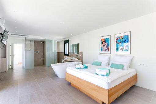Impresionante dormitorio principal