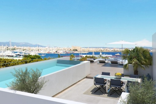 Nuevo apartamento de lujo con vistas al mar cerca de Porto Pi en Palma